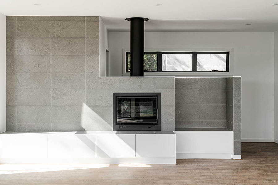 Ferntree Gully residential house home lounge fireplace